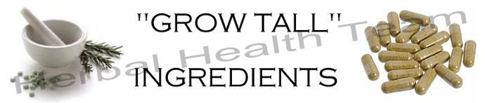 grow tall ingredients